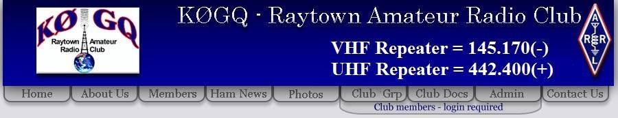 KØGQ - Raytown Amatuer Radio Club - Repeater = 145 170
